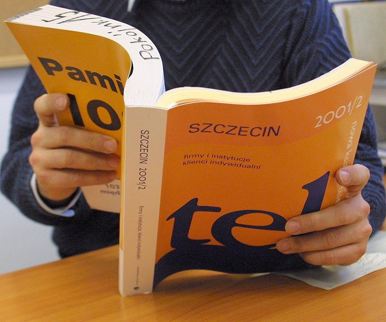 Genialny Nowa książka telefoniczna | Głos Szczeciński TB93