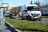 Wypadek karetki w Łomży. Dodge charger zderzył się z ambulansem (zdjęcia)