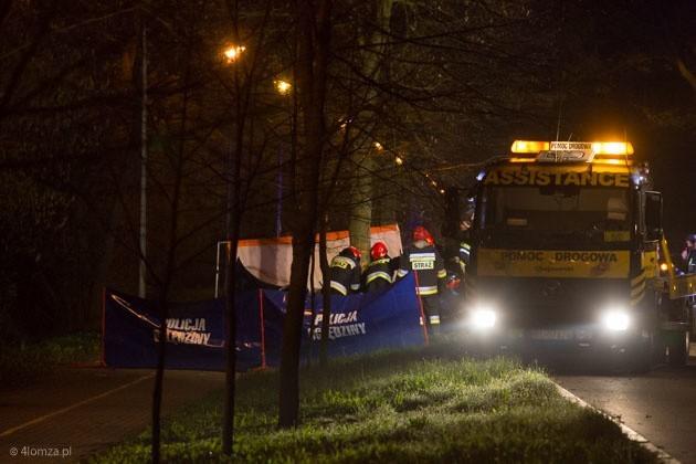 Śmiertelny wypadek na Grobli Jednaczewskiej w Łomży