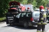 Ul. Skórzewska: Zderzenie czterech aut. Trzy osoby w szpitalu [ZDJĘCIA]