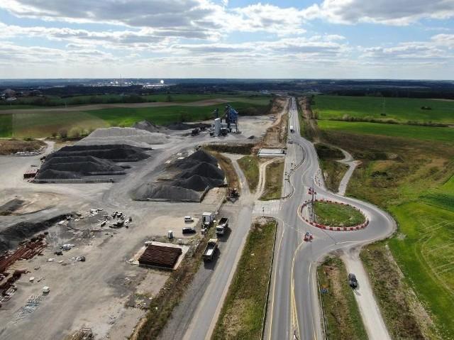 Budimex wprowadza zmiany w ruchu drogowym na S5 na budowanym przez niego odcinku. A tak wyglądało jeszcze zanim firma weszła na budowę