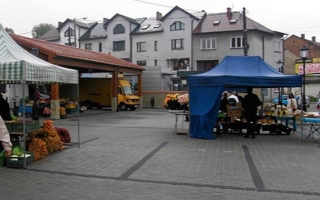 Plac targowy w Miechowie