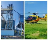 Powiat tomaszowski: Groźny wypadek przy pracy. Mężczyzna spadł z 12 metrów podczas remontu silosów zbożowych