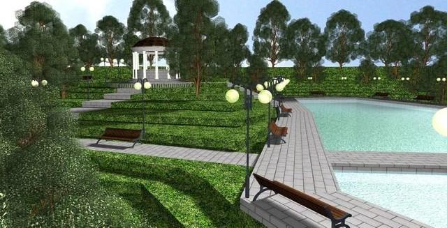 Tak pokazano nowy park na wizualizacjach z 2010 roku. Obecne koncepcje są podobne, ale już bez betonu oraz parkingu