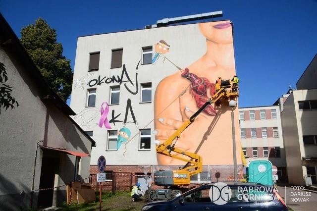 W ramach zachęcania Polek do badań i profilaktycznej mastektomii Katarzyna Stachowicz firmuje powstawanie w miastach województwa murali przestrzegających przed rakiem piersi, który jest głównym nowotworem, na który chorują i umierają Polki.