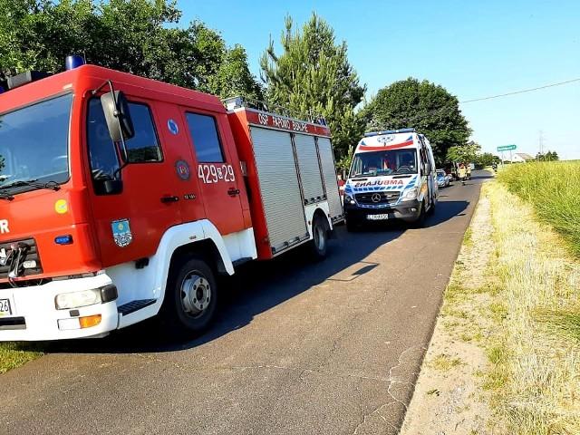 Jedna osoba została przetransportowana do szpitala śmigłowcem LPR