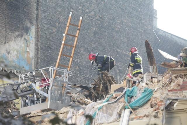 Miejsce wybuchu w kamienicy w Katowicach