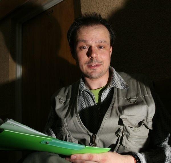 Rafał Kosno, szef Federacji Zielonych, protestuje przeciwko...