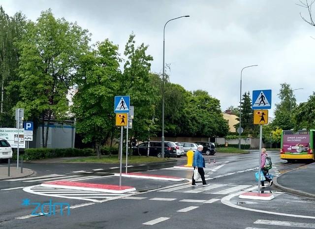 Na ul. Stróżyńskiego instalowane są rozwiązania zwiększające bezpieczeństwo pieszych