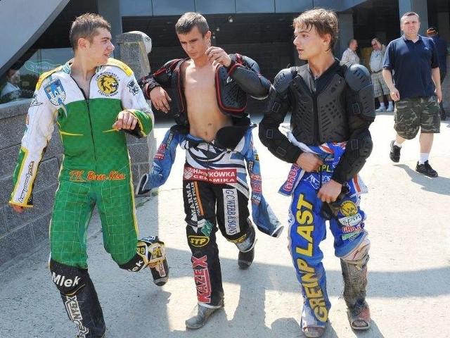 Od lewej: Karol Machowski, Artur Cyło, Kamil Rak.