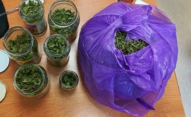 Na posesji przeszukanej przez mundurowych, znajdowało się ogółem ponad 800 gramów ziela konopi indyjskiej. Wstępne badanie narkotesterem wykazało, że zabezpieczone substancje to marihuana.