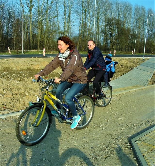 Pozimowy rozruch rodzinny na trasie Słupsk - Głobino