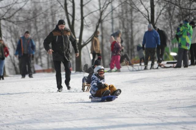 Wyciąg narciarski w Sosnowcu zamknięty, chociaż śniegu nie brakuje