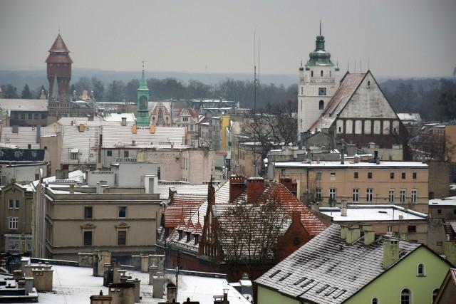 Kluczbork z dachu Hotelu Stobrawa