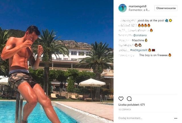 Mario Engels wybrał się na wypoczynek na Majorkę. To ostatnio popularny kierunek wielu piłkarzy - tych bardziej i mniej znanych. No cóż - u Niemca z formą w trakcie sezonu było różnie, ale tym zdjęciem pewnie zaimponował wielu fankom piłki nożnej...