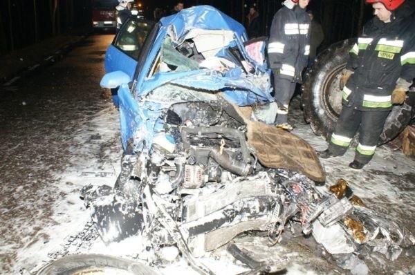 36-letni kierowca zginął na miejscu