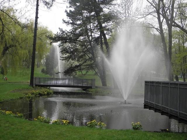 Fontanna w Parku Staszica pod Jasną Górą
