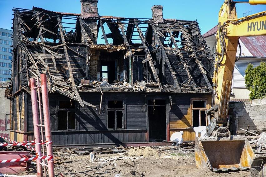 Tak wyglądał spalony dom przy ulicy Angielskiej w dniu...