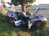 Śmiertelny wypadek na trasie Przasnysz - Chorzele, 1.06.2020. Nie żyje 20-letni kierowca