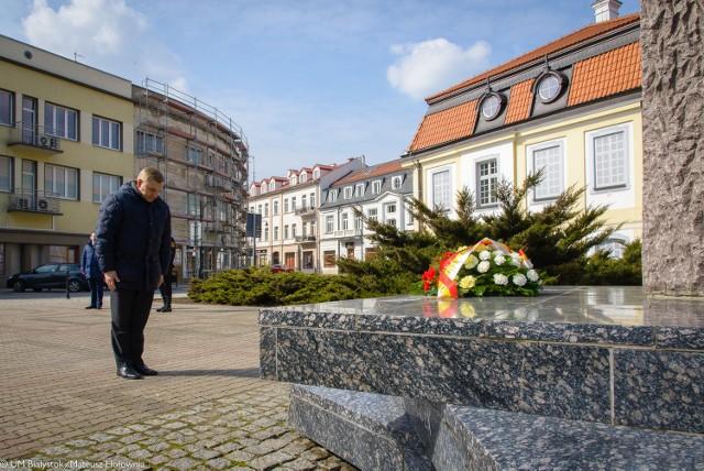 Prezydent Białegostoku Tadeusz Truskolaski upamiętnił porwanie przywódców Państwa Podziemnego.