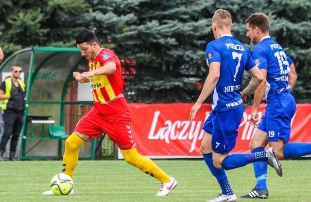 Vanja Marković zdobył bramkę dla Korony, wykorzystał też rzut karny, ale kielecki zespół przegrał w karnych 2:3 i od-padł z rozgrywek.