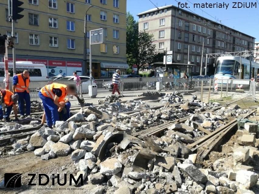 Wrocławskie torowiska tramwajowe są w kiepskim stanie....