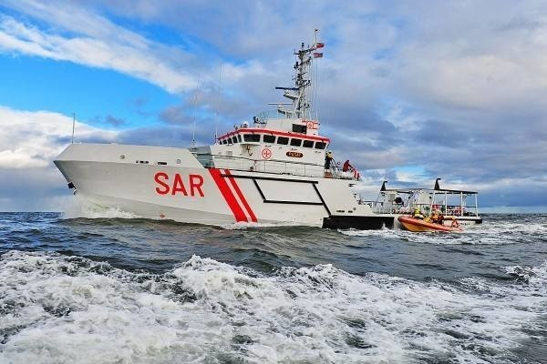 Jednostka Morskiej Służby Poszukiwania i Ratownictwa na morzu.