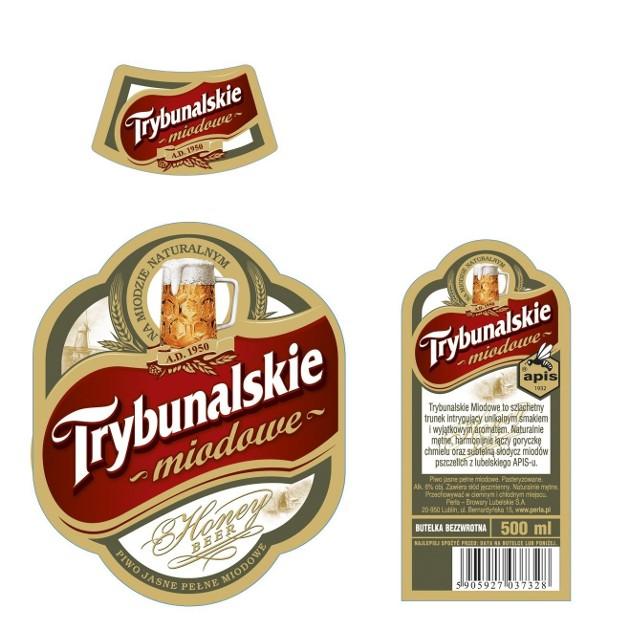 Trybunalskie Miodowe będzie sprzedawane w półlitrowych, brązowych, bezzwrotnych butelkach.