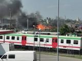 Białystok. Pożar przy ulicy Kopernika. Pięć zastępów strażaków było w akcji