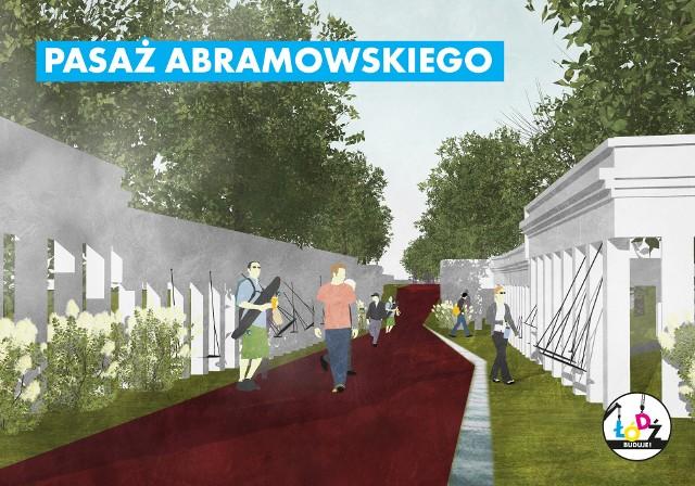 Ulica Abramowskiego w Łodzi. Drewniana tężnia zastąpi słynne katakumby w pasażu Abramowskiego. Rozpoczęły się prace rozbiórkowe