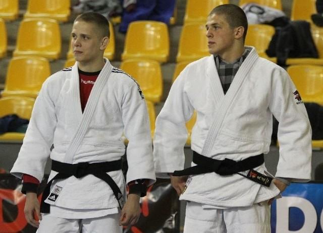 W kwietniu do Kielc zjadą najlepsi polscy judocy. Wystartują też Damian Stępień (z prawej) i Mateusz Garbacz.