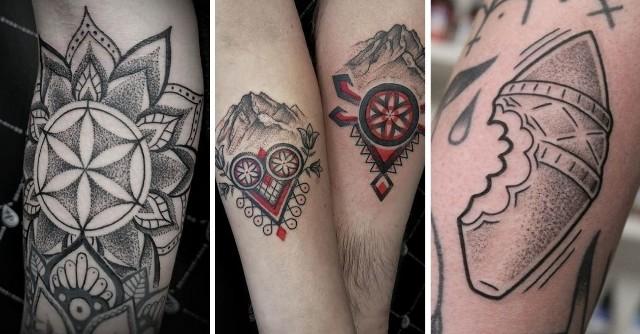 Tatuaże z góralskimi motywami.