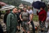 Sytuacja powodziowa na Sądecczyźnie i Limanowszczyźnie. Jest pierwsza ofiara powodzi? [ZDJĘCIA]