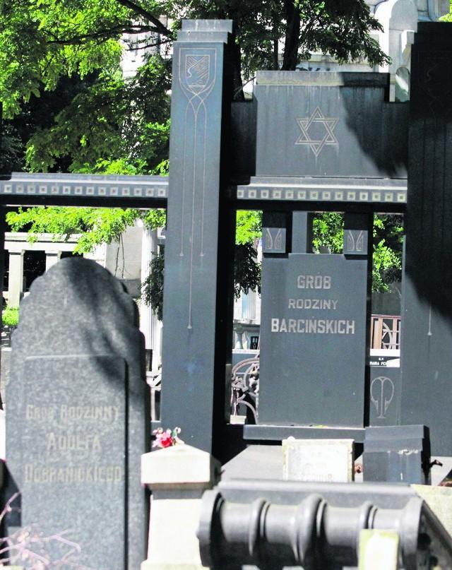 Grób rodziny znanych fabrykantów Barcińskich na cmentarzu żydowskim