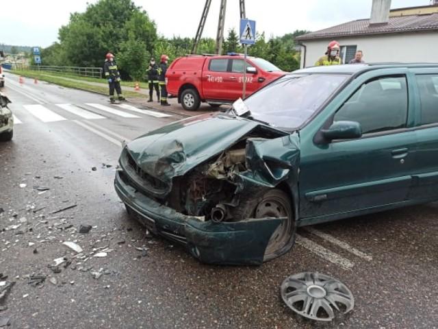Wypadek w Somoninie w poniedziałek, 3 sierpnia. Cztery osoby poszkodowane