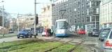 Wykolejenie tramwaju w centrum miasta. Duże utrudnienia