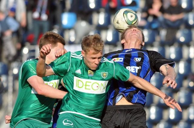 W walce o górne piłki z katowiczanami brylował jak zwykle Krzysztof Hrymowicz.