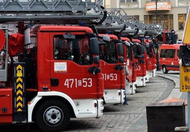 Przekazanie wozów Straży PożarnejPrzekazanie wozów Straży Pożarnej