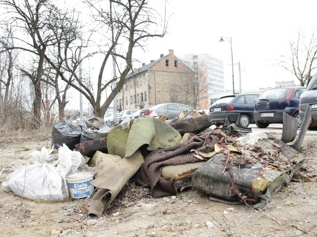 Teren, na którym znajdują się śmieci ma kilku właścicieli. Dzisiaj spotkają się tu, żeby ustalić zasady sprzątania