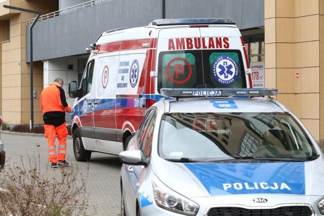 Mężczyzna wypadł z 6 piętra. Zdjęcie ilustracyjne.