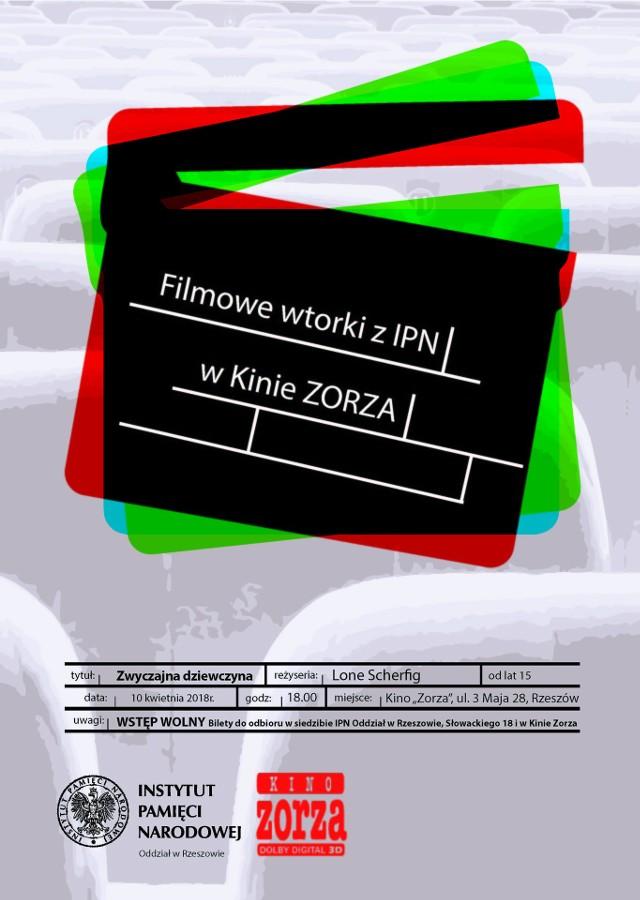 """Pokaz filmu """"Zwyczajna dziewczyna"""" reż. Lone Scherfig. Pokaz odbędzie się we wtorek 10 kwietnia 2018 r. w Kinie """"Zorza"""" w Rzeszowie, ul. 3 Maja 28 o godzinie 18. Film poprzedzony zostanie prelekcją historyka IPN"""