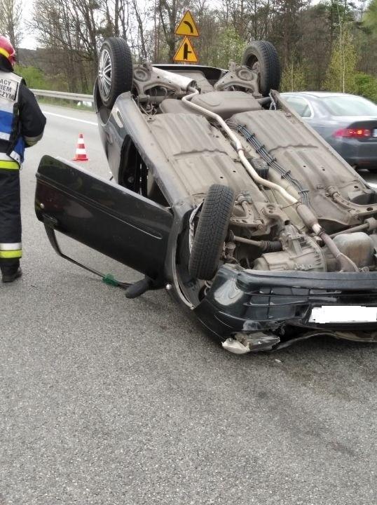 Wypadek na zakopiance spowodował dziś duże utrudnienia w ruchu w kierunku Krakowa