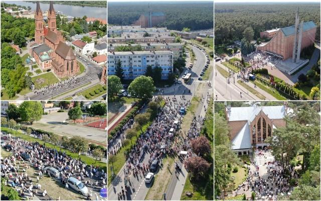 Boże Ciało 2021 we Włocławku - zdjęcia z drona