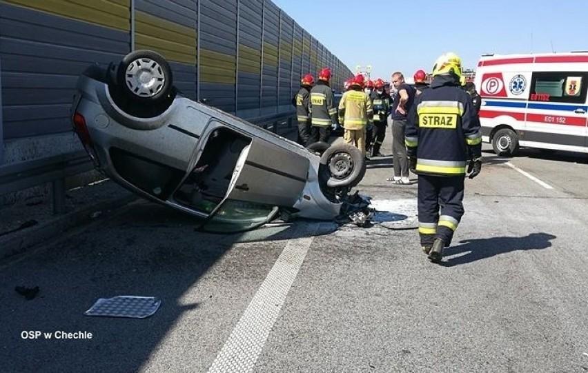 Kobiety ranne w wypadku na S8 koło Pabianic.