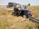 Wypadek na trasie Bytów - Chojnice. Dwie osoby ranne (ZDJĘCIA)