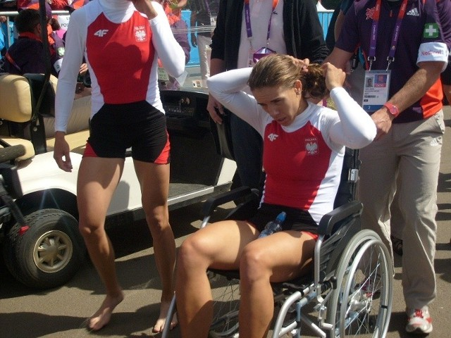 Magdalena Fularczyk tuż po wyścigu