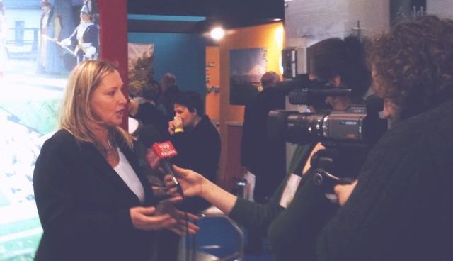 Tłumy Holendrów przybyły w tym roku na targi Vakantiebeurs, a szefowa ROT, Małgorzata Wilk - Grzywna udzielała wywiadu między innymi TVP Polonia