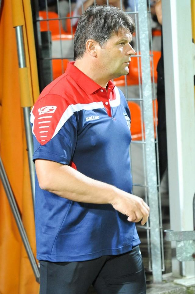 Trener Sandecji Radosław Mroczkowski