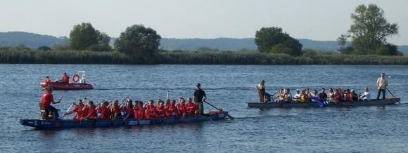 Charakterystyczne łodzie widać było na Regalicy w Gryfinie już od kilku dni. Po treningach, dziś czas wyścigów.