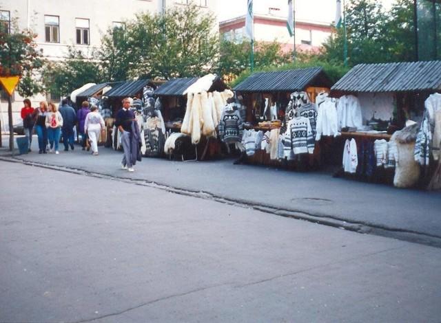 Stragany na skrzyżowaniu Krupówek i ul. Kościuszki